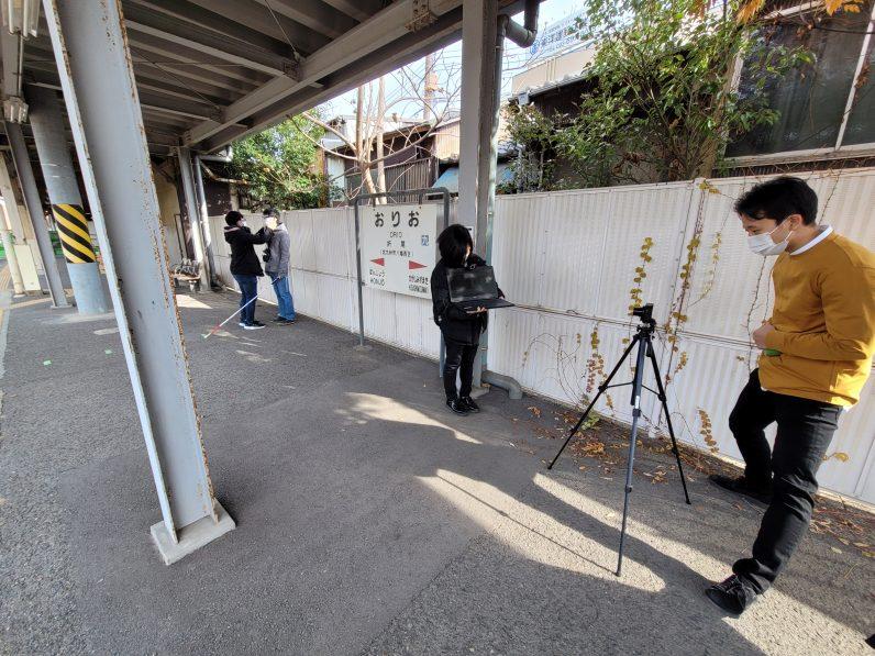 JR九州様のご協力で、JR折尾駅での実証実験を行いました。